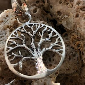 Tree of life pendant with cross necklace